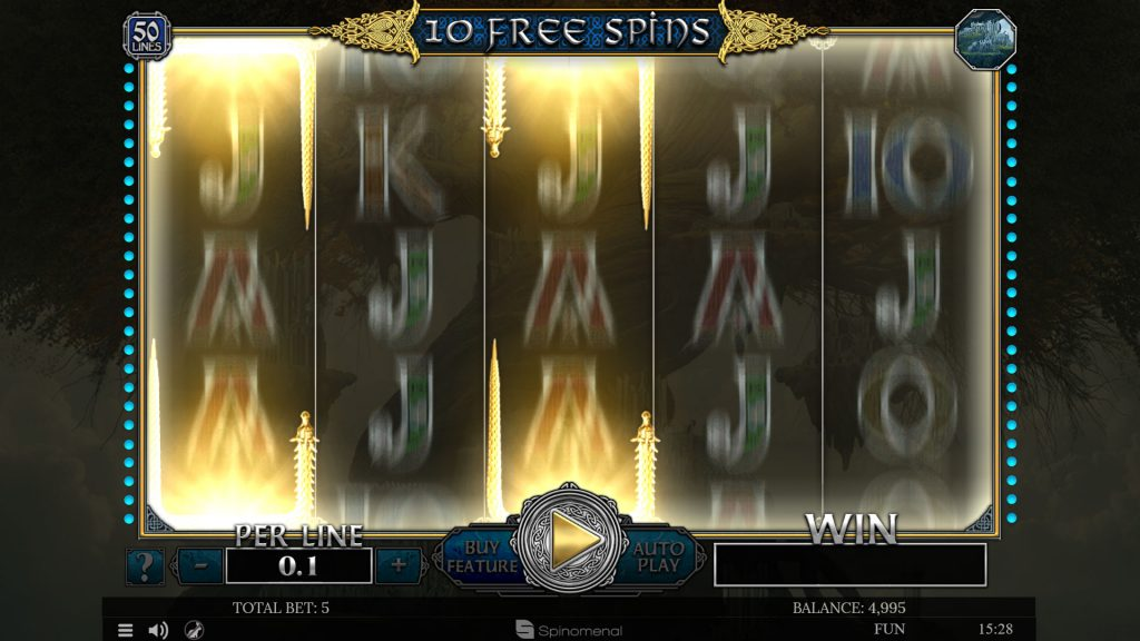 Free spins Midgard - Synced Reels feature