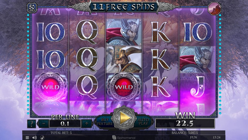 Free spins Vananheim - Shifting reels feature